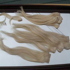 Human Hair Extensions-Light Blond